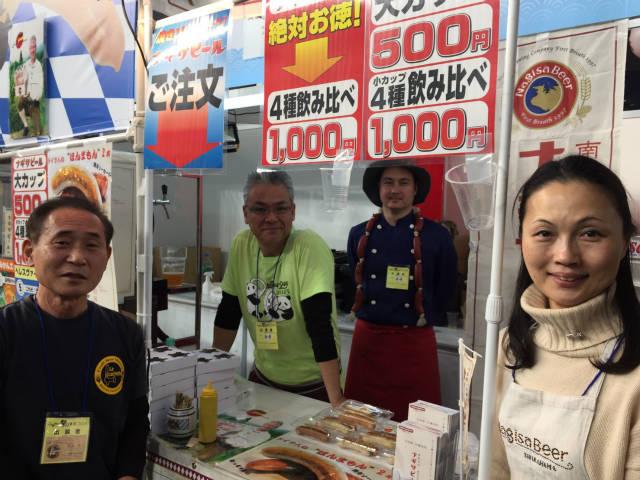 ふるさと祭り東京のナギサビールと樋口昇マスター【神楽坂ラ・カシェット】